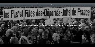 Site des Fils et Filles des Déportés Juifs de France
